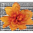 Orange Burlap Flower 2