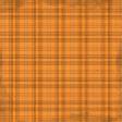 Oh My Gourd Orange Plaid Paper