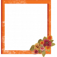 Oh My Gourd Orange Frame with Flowers