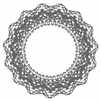 Circular lace frame