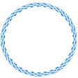 Gingham Ring Blue