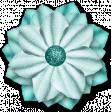 Spring Sparkle Aqua Flower