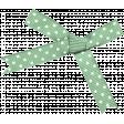 Mint Polka Dot Bow
