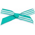 Spring Sparkle Aqua Striped Bow