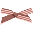Coral Striped Bow