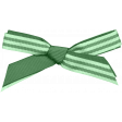 Green Striped Bow