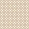 White Polka Dots on Dark Tan