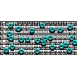 Scattered Aqua Eyelets