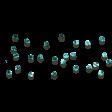 Scatter Aqua Glitter Gems