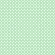 White Polka Dots on Mint