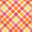 Red & Orange Diagonal Plaid