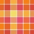 Pink & Orange Large Plaid