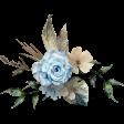 Blue-green floral cluster