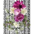 dark pink floral cluster