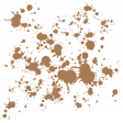 Brown Paint Scatter
