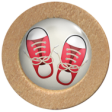 Red Sneakers Button