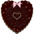 Chocolate candy 3D Heart