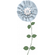 Baby Blue Fabric Flower