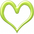 Our House - Green Heart Outline