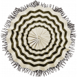 Spookalicious - Black Striped Accordion Flower