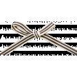 Spookalicious - Black/White Striped Bow