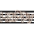 Autumn Art October Mini Kit - Pink Metal Wordart - Happy
