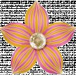 Spookalicious - Pink Orange Striped Flower