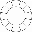 Clock Makers Brush - Outer Border - Number Frame