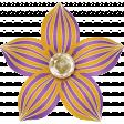 Spookalicious - Purple Orange Striped Flower