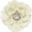 Sweater Weather - Large White Flower With Diamond