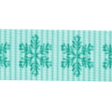 Sweater Weather - Blue Snowflake Ribbon Straight
