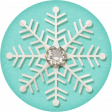 Sweater Weather - Blue Snowflake Tag