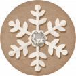 Sweater Weather - Brown Snowflake Tag
