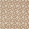 Sweater Weather Papers - Brown With White Snowflake