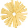 Birthday Wishes - Yellow Frilled Paper Flower