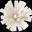 Birthday Wishes - White Frilled Paper Flower