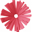 Birthday Wishes - Red Frilled Paper Flower