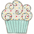 Birthday Wishes - Blue Cupcake