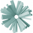 Birthday Wishes - Blue Frilled Paper Flower