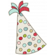 Birthday Wishes - Polka Dot Party Hat Sticker