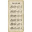 Birthday Wishes - Calendar Card