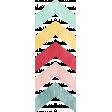 Birthday Wishes - Colorful Chevron Sticker