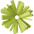Birthday Wishes - Green Frilled Paper Flower