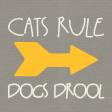 Furry Friends - Kitty - 3 x 3 Card - Cats Rule