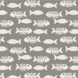 Furry Friends - Kitty - Fish & Bones 3 x 3 Card