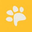 Furry Friends - Kitty - Yellow Pawprint 3 x 3 Card