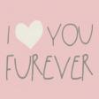 Furry Friends - Kitty - Love You Furever 3 x 3 Card