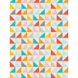 Kitty - Journal Card- Colorful Triangles - 3 x 4