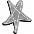 Furry Friends - Kitty - Wood Doodle Star 02 Template