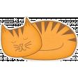 Furry Friends - Kitty - Sleeping Kitty Sticker